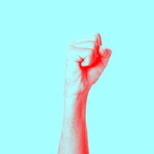 fist in air ragin moderate