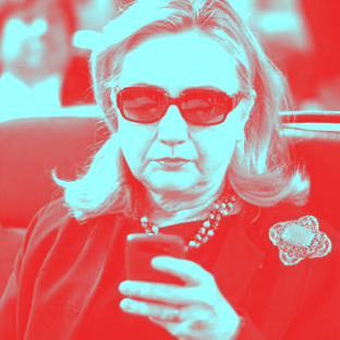 hillary clinton red blue email